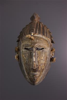 African art - Masque facial Markha, Warka