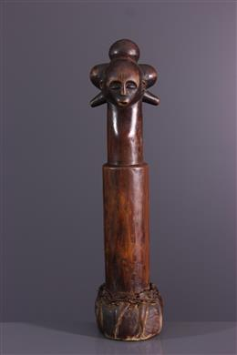 African art - Pilon de divination Luba Kalundwe Lubuko