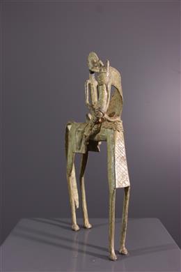 Bronze Dogon equestrian figure