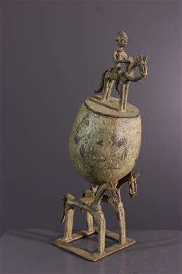 African art - Dogon Horsemens Cup in Bronze