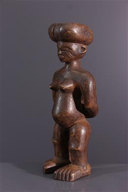 Statuette Chokwe Kaponya wa Mwana Pwo