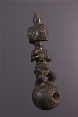African art - Luba ceremonial water pipe
