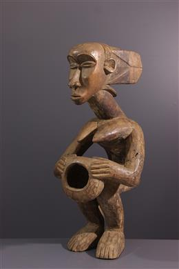 African art - Luba statue carrying cup