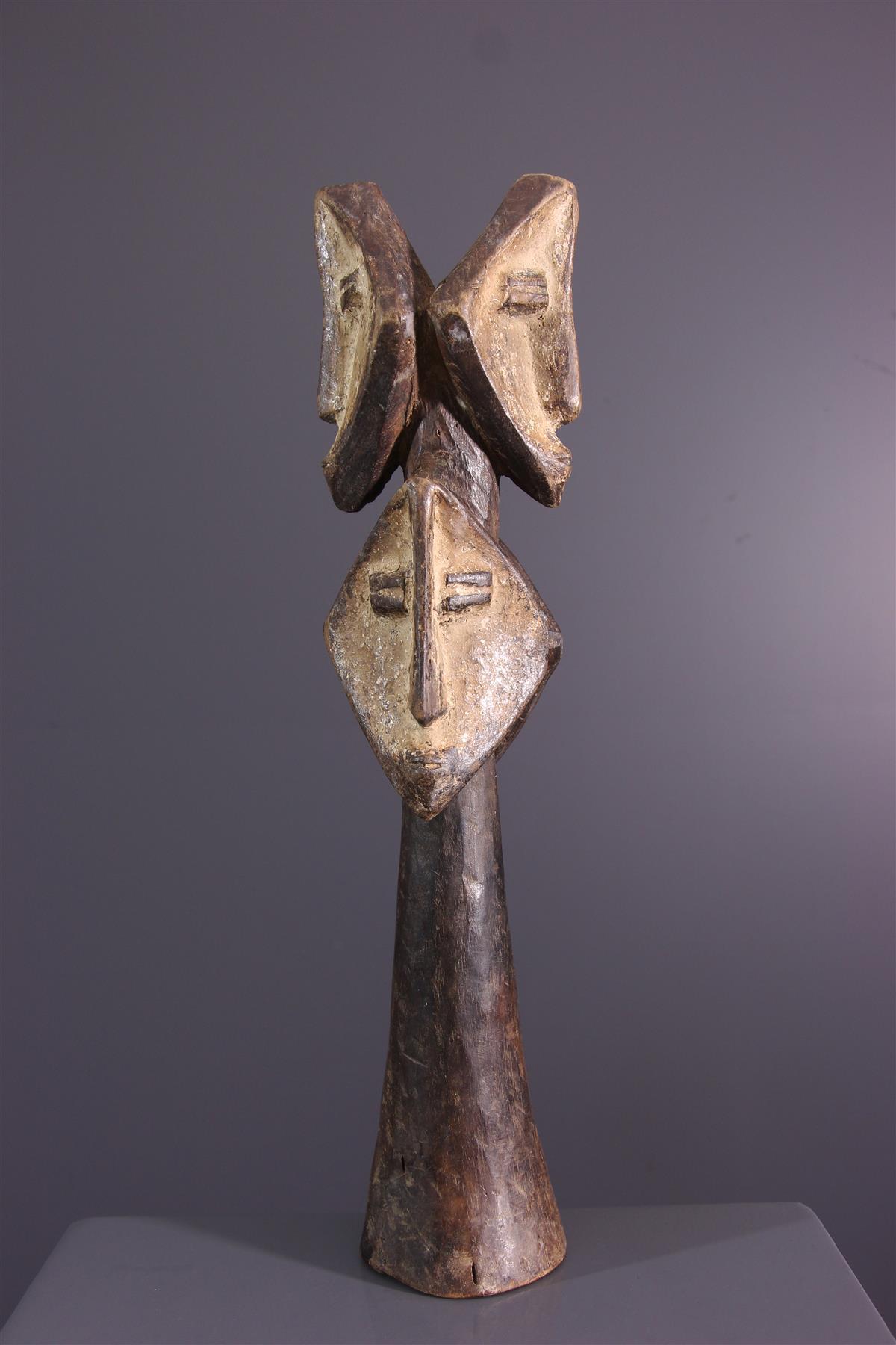 Multi-head statue - African art