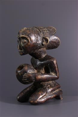 African art - Luba Cup-bearing statuette