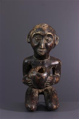African art - Luba Cup-bearing statuette
