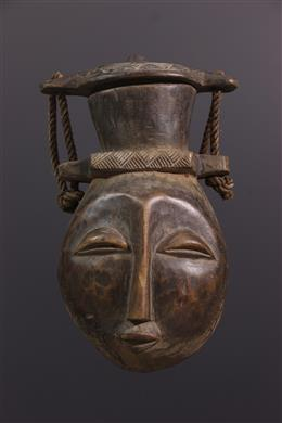 African art - Large Luba lid container