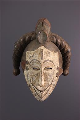 Masque facial Igbo Agbogo Mmwo polychrome