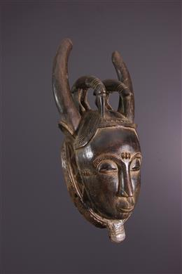 African art - Ndoma portrait mask of Baoulé / Yohoure