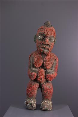 Beaded Bamileke Statue