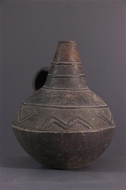 African art - Jarre Mangbetu terracotta