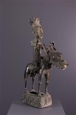 Royal equestrian figure Bini Edo Benin