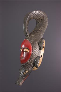 African art - Mask Yaure, Yohoure, crocodile