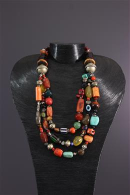 Three-row Amazigh necklace