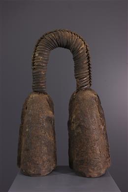 African art - Double ritual bell Bamileke Kwifoyn