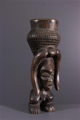 African art - anthropomorphic Cuba Lele cup