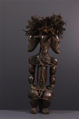 African art - A reliquary statue of the Three-headed Byeri Fang