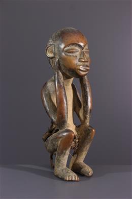 African art - Crouching figure Pyaang Kuba