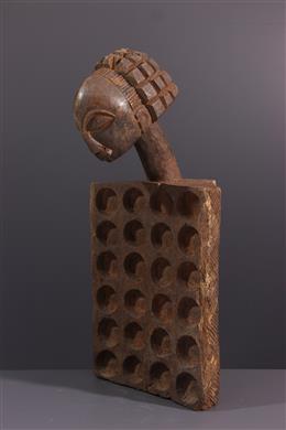 African art - Luba cephalomorphic game