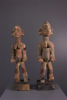 African art - Pair of Senoufo statuettes