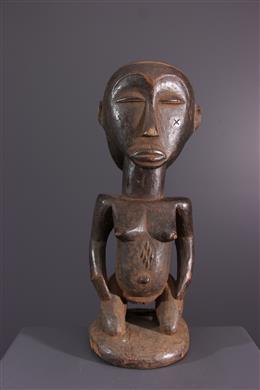 African art - Statuette Luba Mikisi mihake