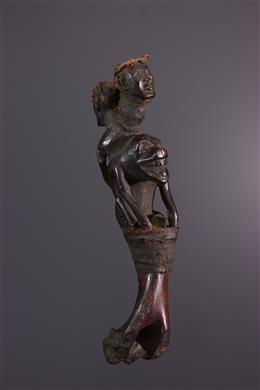 African art - Kongo Ntafu malwangu badge