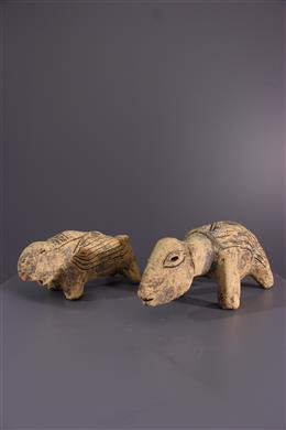 African art - Lega zoomorphic figures of Bwami