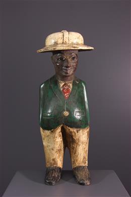 """African art - Figure of """"colon"""" Baoulé"""