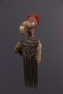 African art - Senoufo calao-patterned comb