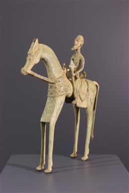 African art - Cavalier Dogon and his mount