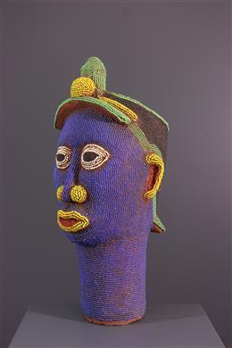 African art - Pearl head in terracotta