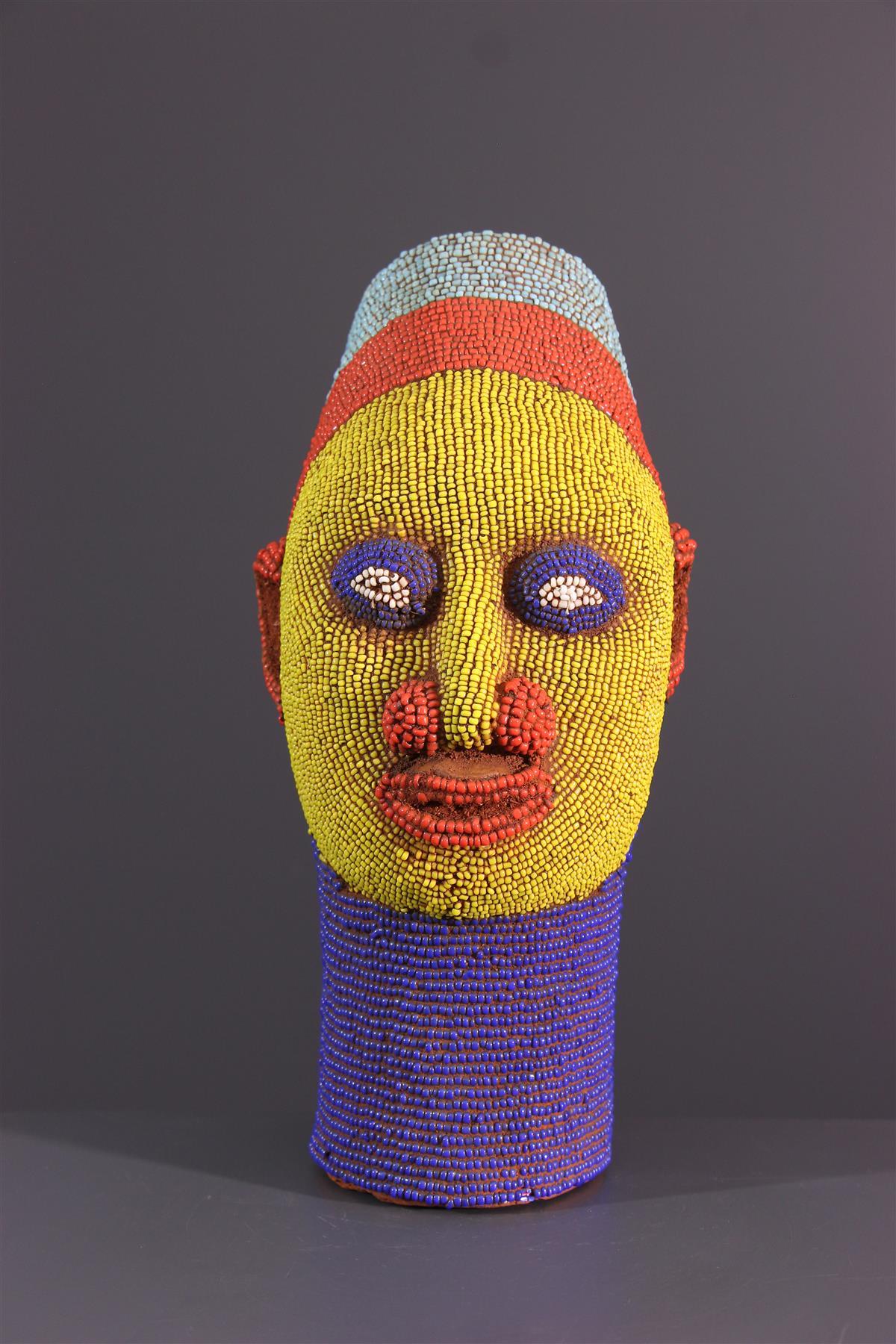 Beaded head - African art