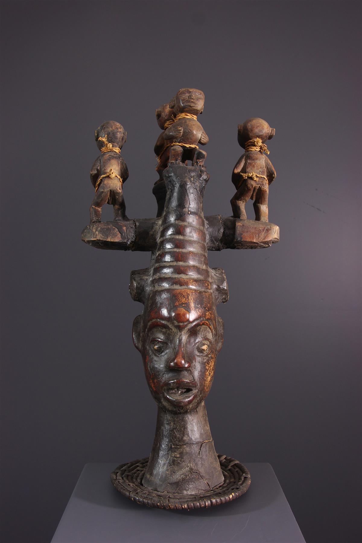 Ekoi Mask - African art