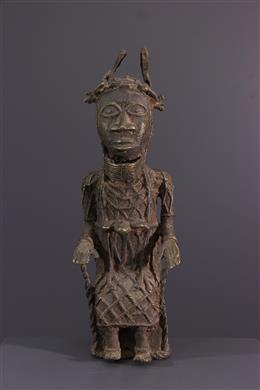 African art - Bronze Figure of King Benin