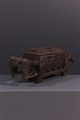 African art - Dogon figurative box