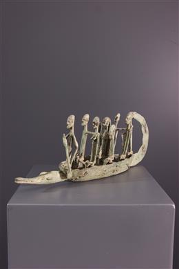 African art - Bronze Dogon Pirogue