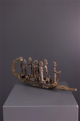 African art - Bronze Dogon Pirogue
