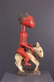 Statues africainesCavalier Baule