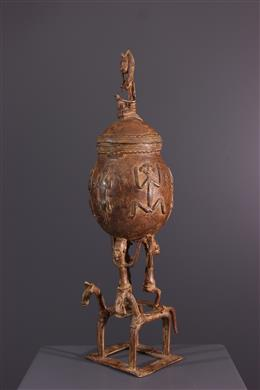 African art - Dogon Cup bronze