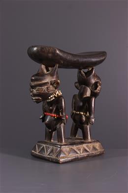African art - Pende caryatids neck press