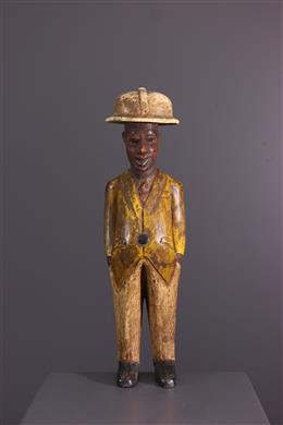 "African art - Figure of ""colon"" African Baoulé"