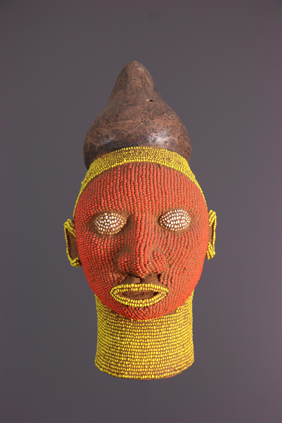 Beaded head - African art