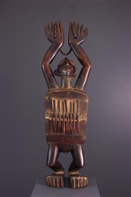 Lamellophone figurative Zande