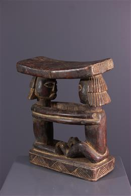 African art - Luba Shankadi Headrest