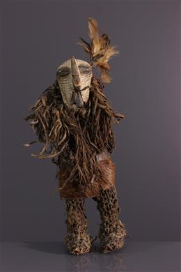 African art - dancer mask Kifwebe Songye figure