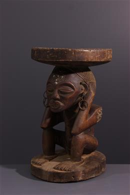 African art - Chokwe Womens Caryatid Seat