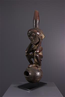 African art - Lulua figurative pipe