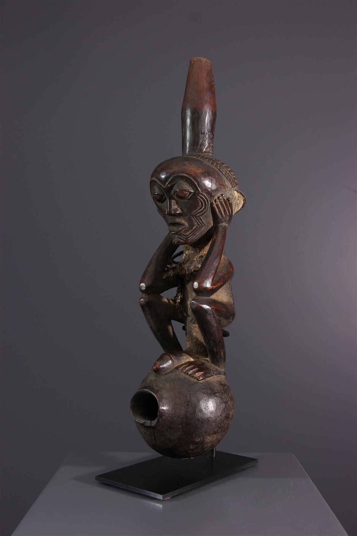 Lulua pipe - African art
