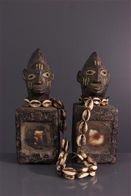 African art - Ere Ibeji Yoruba fetish couple