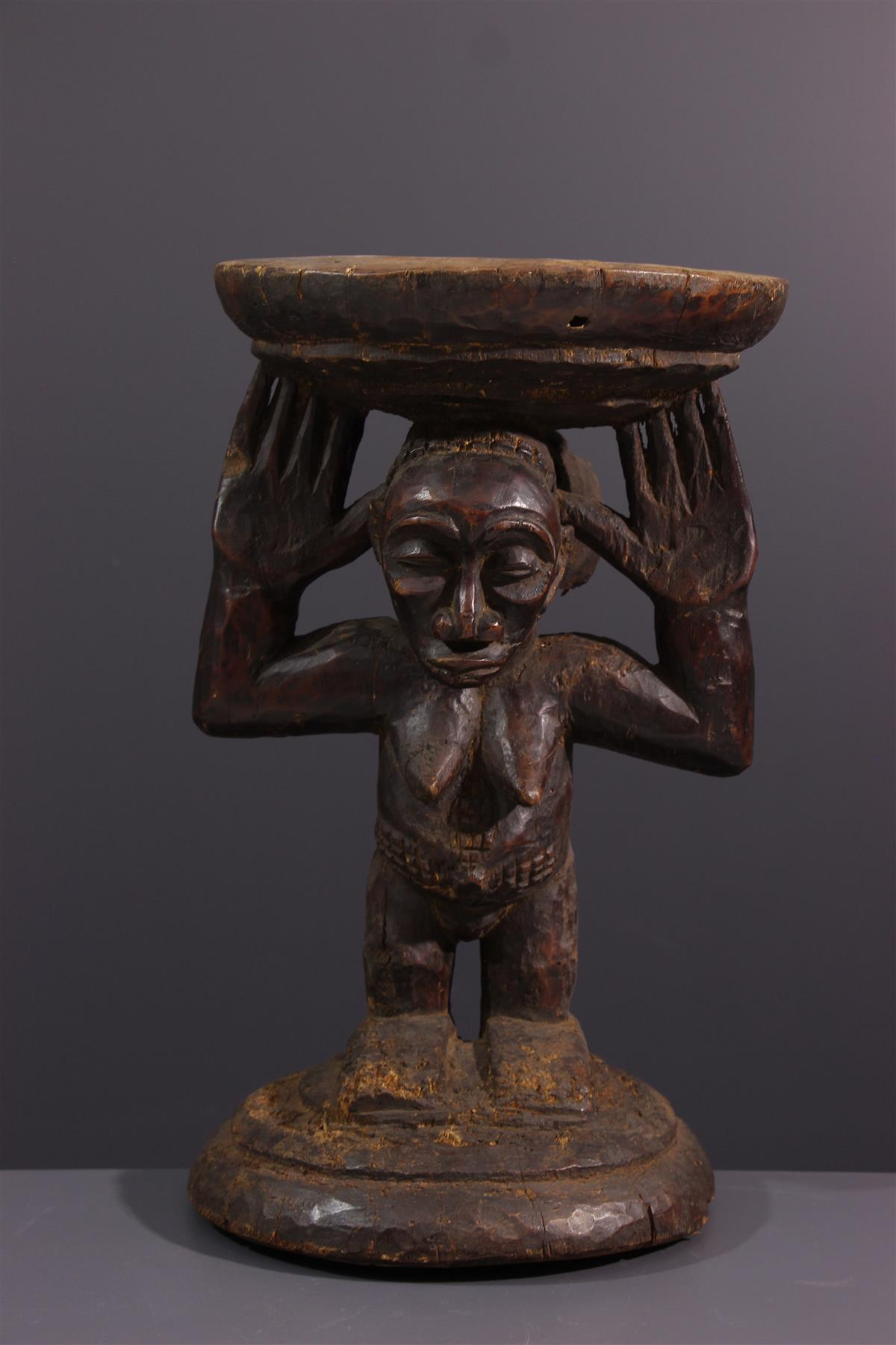 Hemba stool - African art